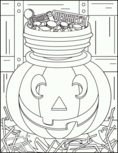Jack O Lantern Coloring Pictures To Print