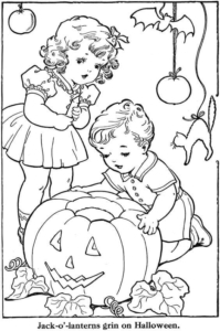 Jack O Lantern Coloring Sheets To Print