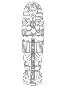 King Tut Mummy Coloring Pages