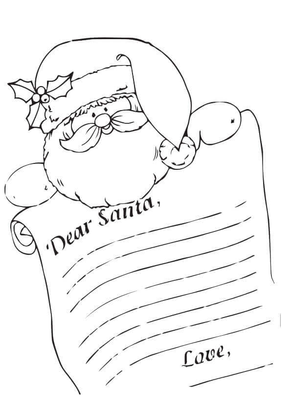 letter to santa coloring page