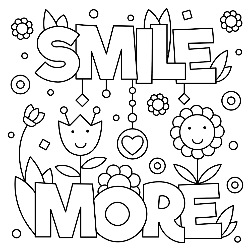 October Coloring Page World Smile Day