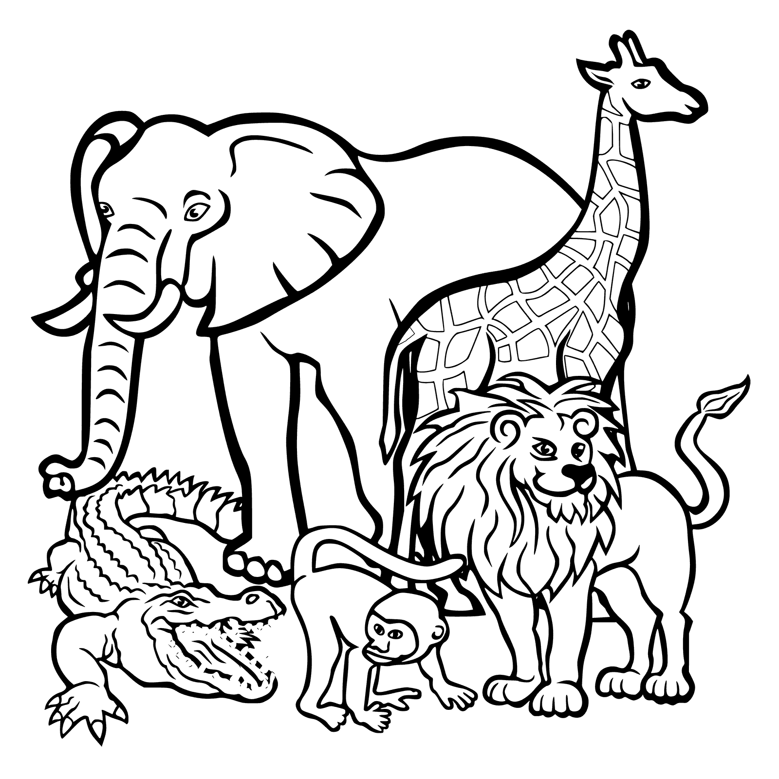 October Coloring Pages World Animal Day