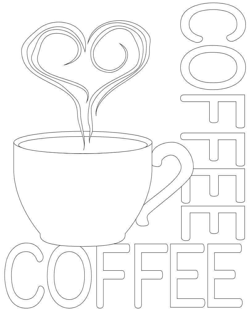October Coloring Pictures International Coffee Day