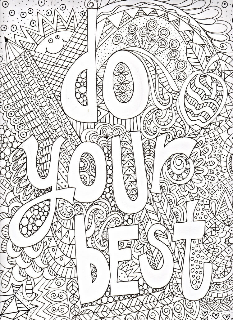 Printable Growth Mindset Coloring Pictures Free