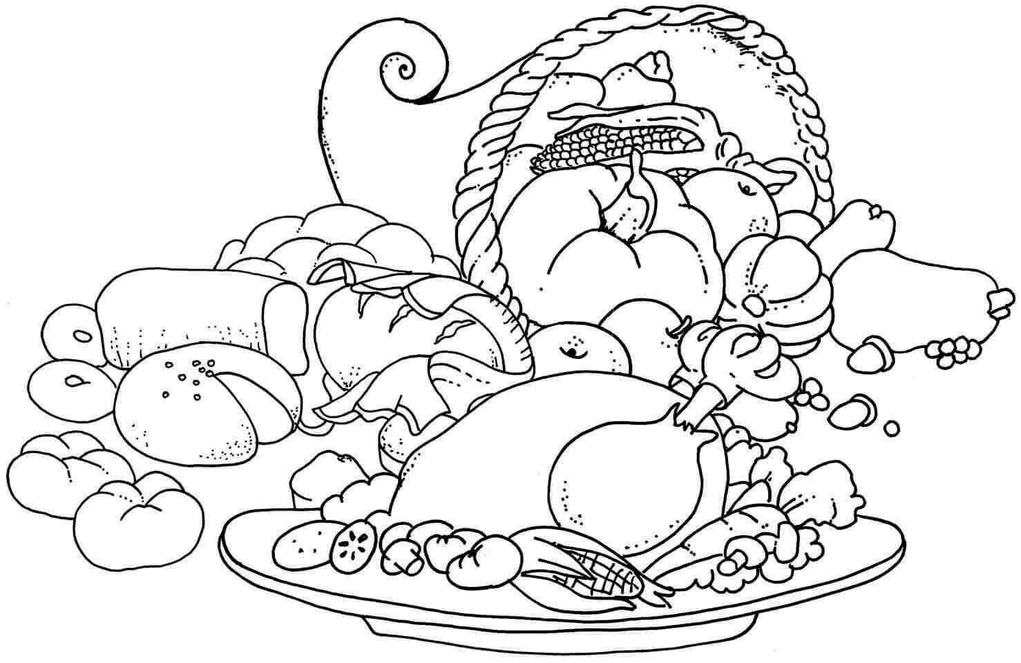 Printable October Coloring Pages World Food Day