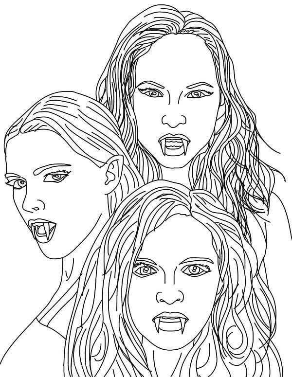 Real Vampires Coloring Pages