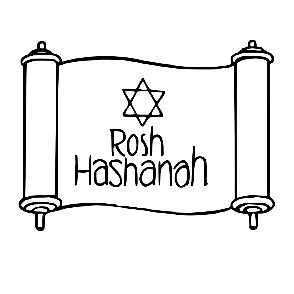 This is a photo of Handy Rosh Hashanah Coloring Pages Printable