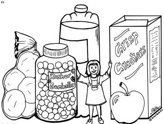 Rosh Hashanah Coloring Pages For Preschoolers