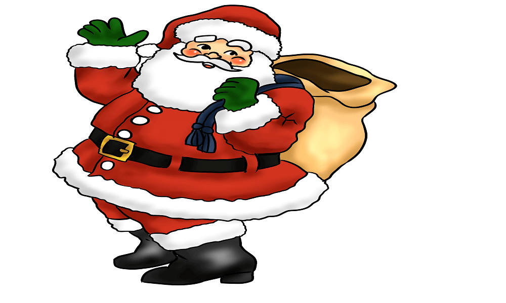 Free printable Santa Claus Coloring Pages | 600x1000