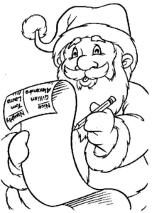Santa Coloring Pages To Print