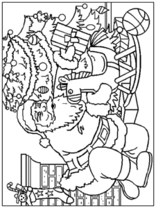Santa Coloring Pages To Print Out