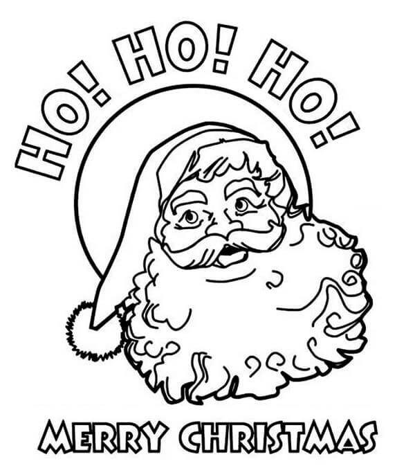 Santa Ho Ho Ho Coloring Page