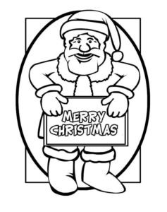 Santa Wishing Merry Christmas Coloring Pages