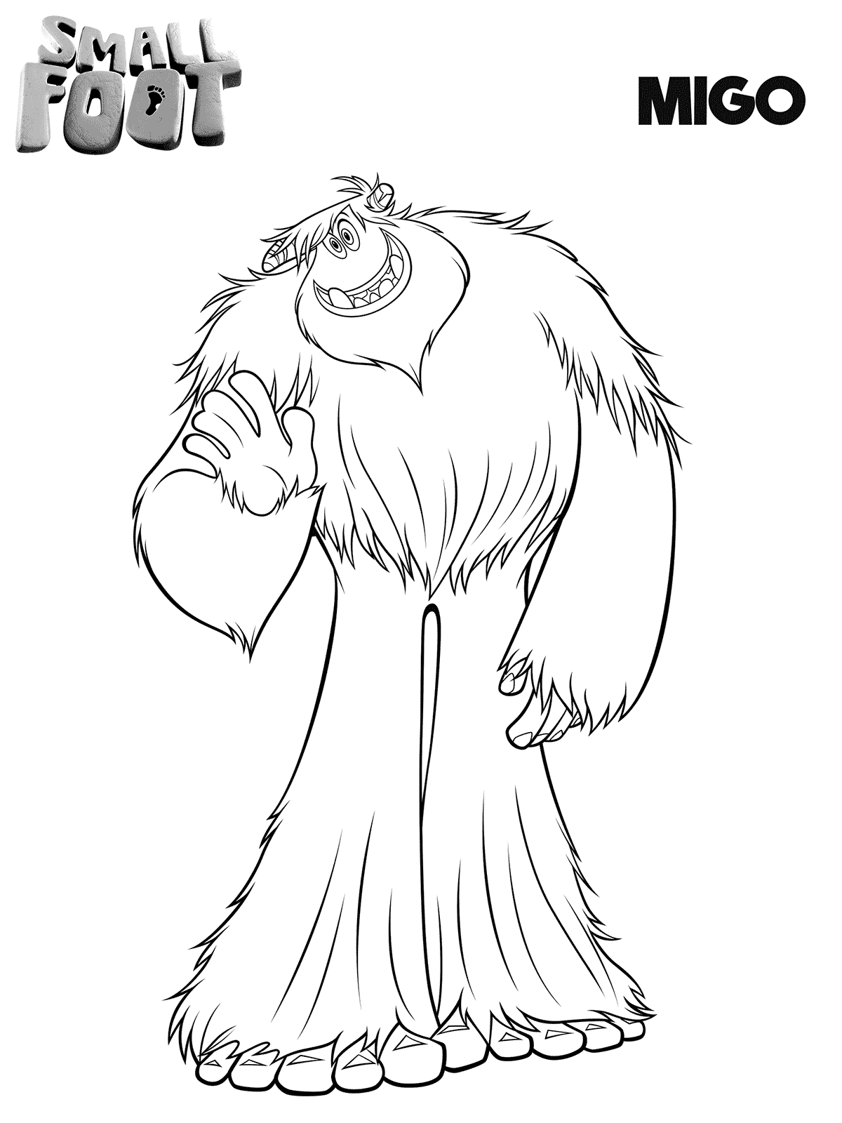 Smallfoot Coloring Pages Printable Migo