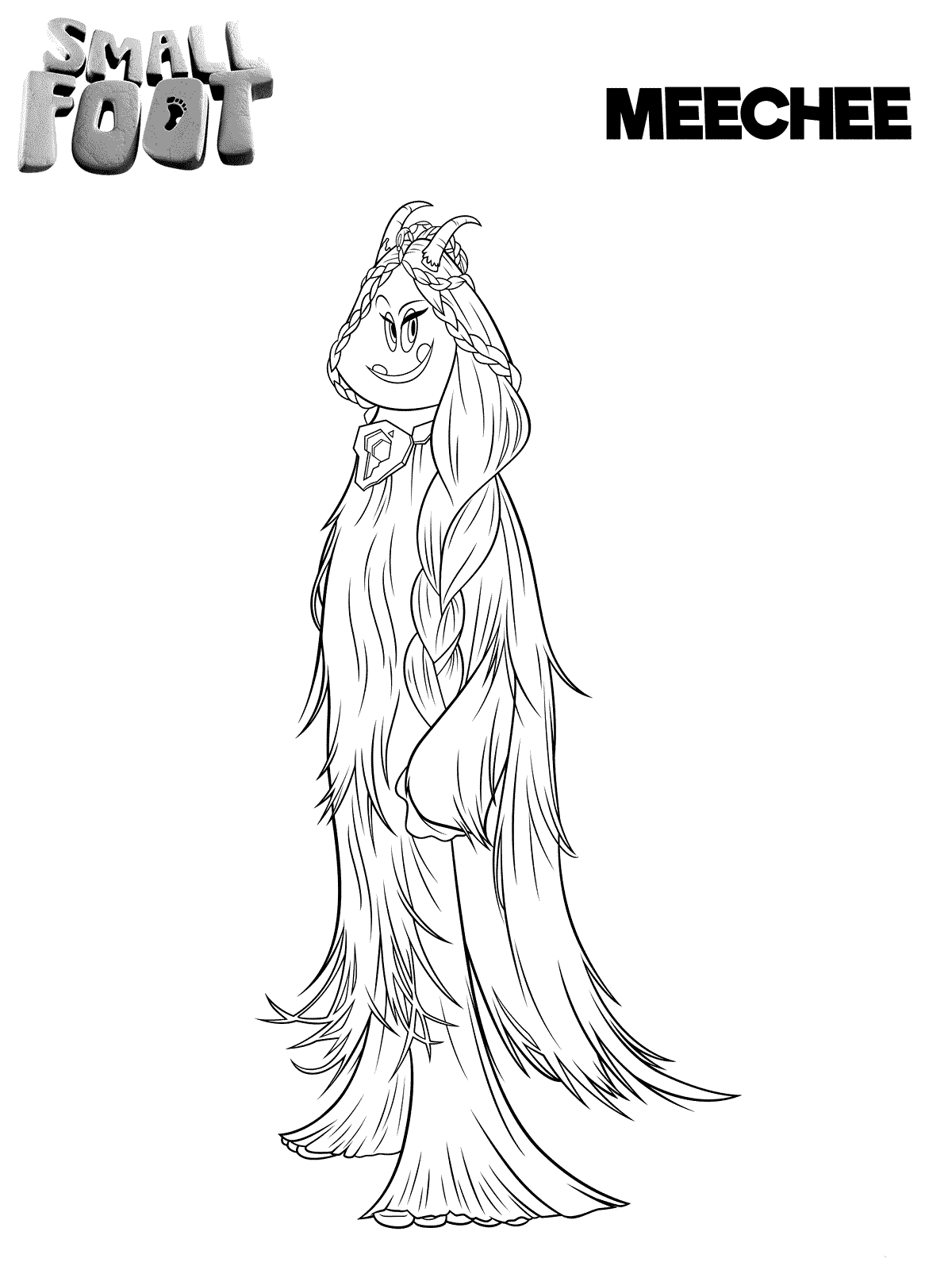 Smallfoot Coloring Pages To Print Meechee