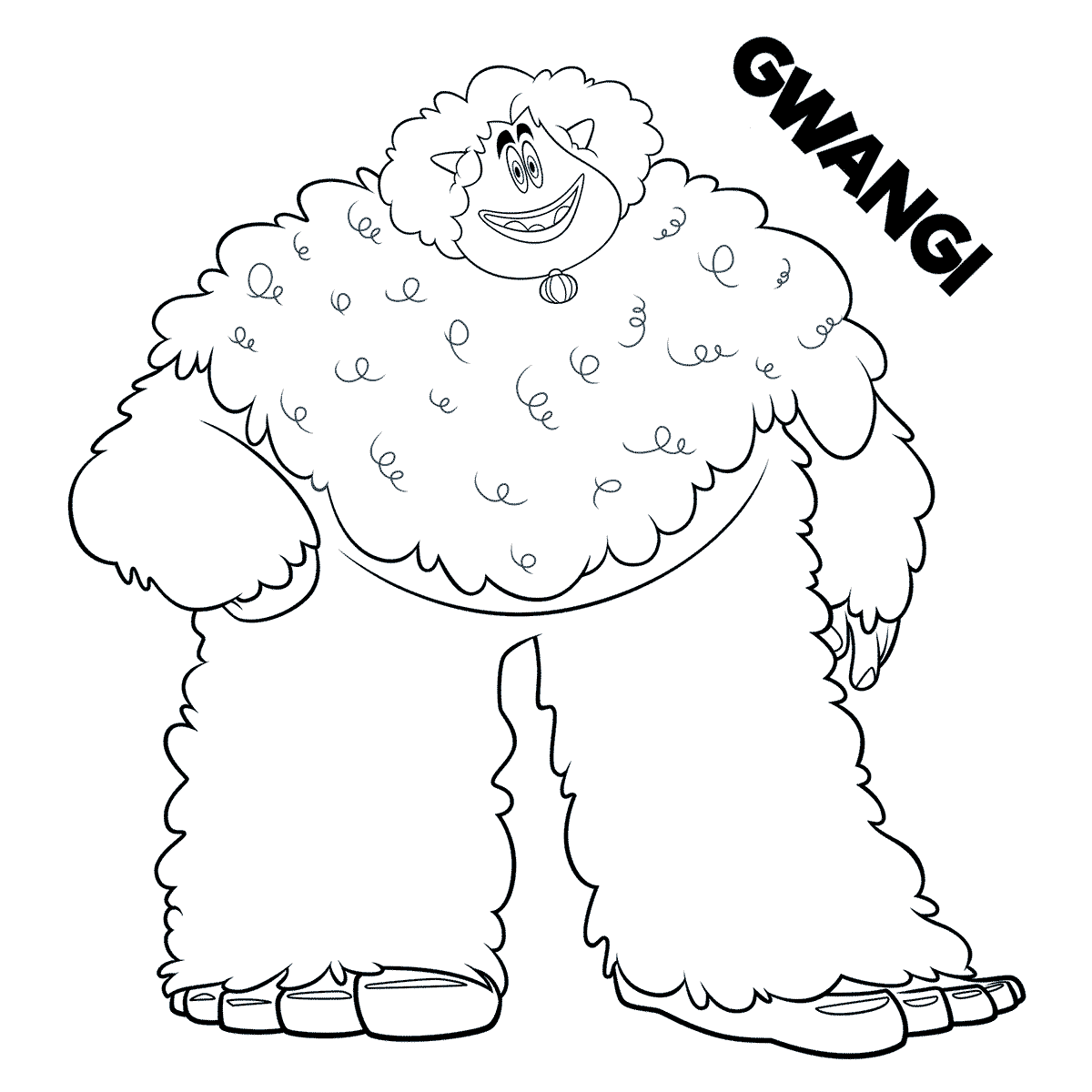 Smallfoot Coloring Sheets Gwangi