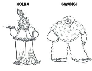 Smallfoot Printables Kolka and Gwangi