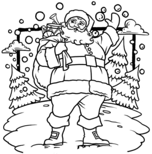 St Nick Coloring Pages