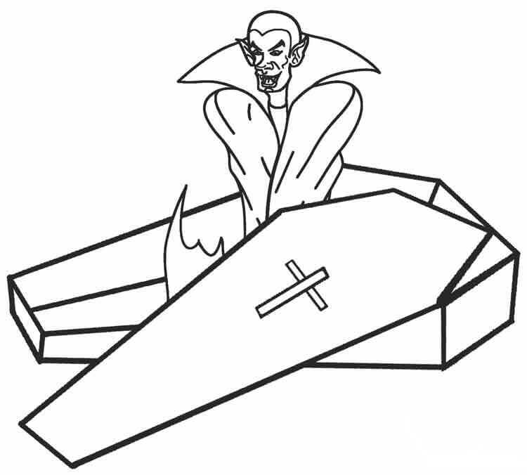 Vampire Coloring Pages PDF
