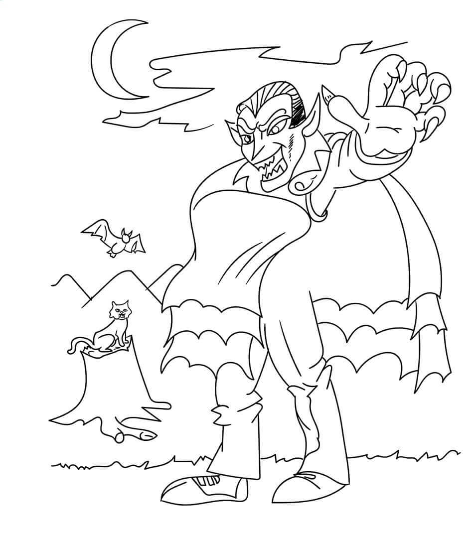 Vampire Coloring Pictures To Print