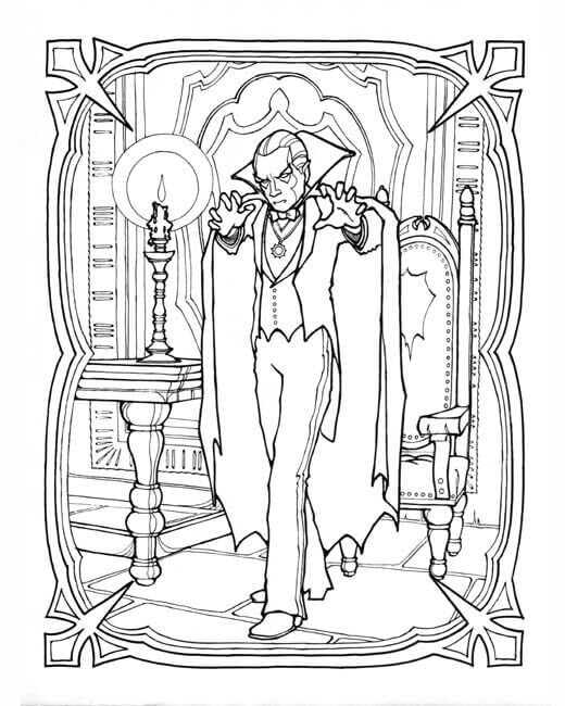 Vampire Coloring Sheets For Adults