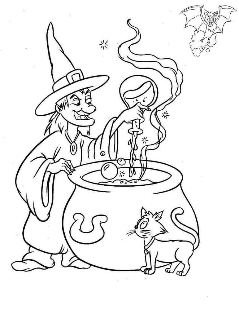 Witch Coloring Images To Print