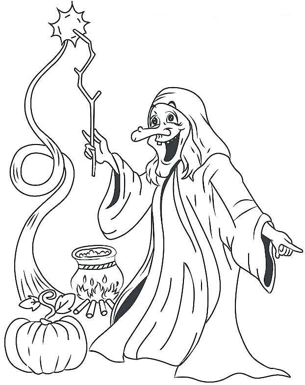 Witch Coloring Pictures Printable