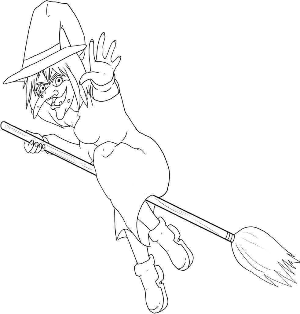 Witch Coloring Pictures