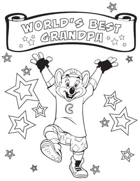 World Best Grandparents Coloring Page