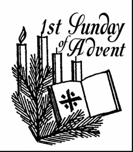 1st Day Of Advent Coloring Page