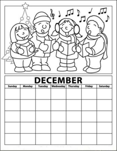 Advent Calendar Coloring Pages