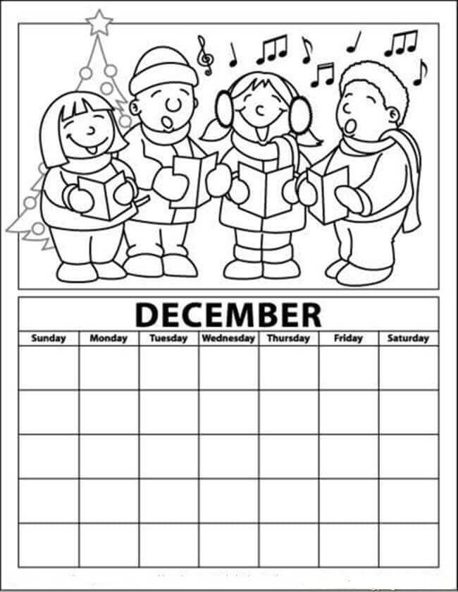 christmas advent calendar coloring pages | 20 Free Christmas Advent Coloring Pages To Print