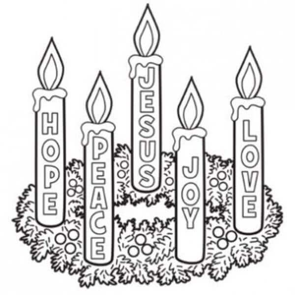 Advent Candle Coloring Pages