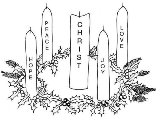 Advent Wreath Coloring Pages
