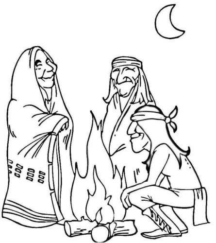 Native American Coloring Pages | 500x445