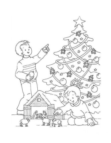 Christmas Tree Coloring Pages PDF