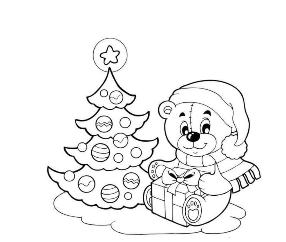 Christmas Tree Coloring Pictures To Print