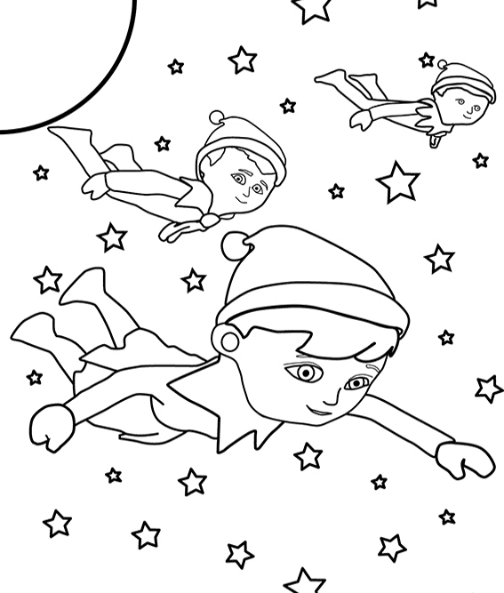 Elf Coloring Pictures To Print