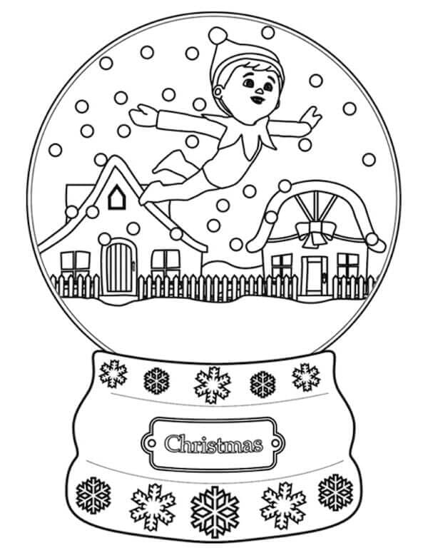 Elf On The Shelf Coloring Images Free