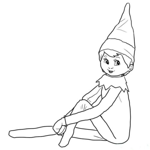 30 Free Printable Elf On The Shelf Coloring Pages