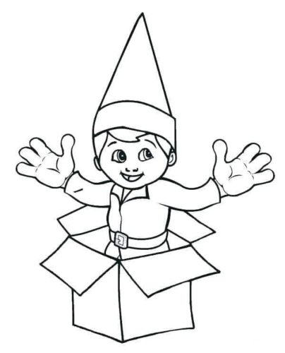Christmas Elf On The Shelf Coloring Pages.30 Free Printable Elf On The Shelf Coloring Pages
