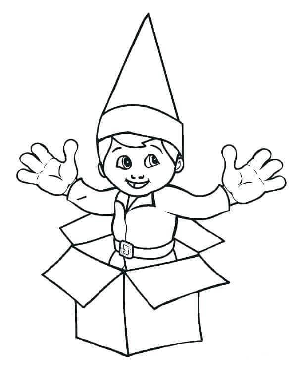 Elf On The Shelf Coloring Pages To Print