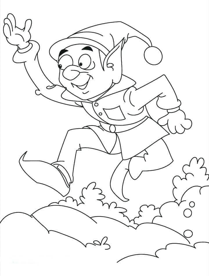 Elf On The Shelf Coloring Printables