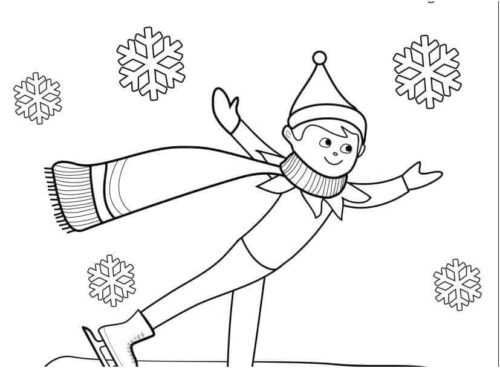 Elf on the Shelf coloring pages | Free Coloring Pages | 368x500