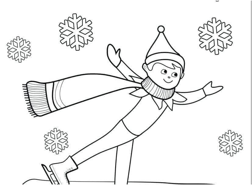 Elf On The Shelf Coloring Sheets Free Printable