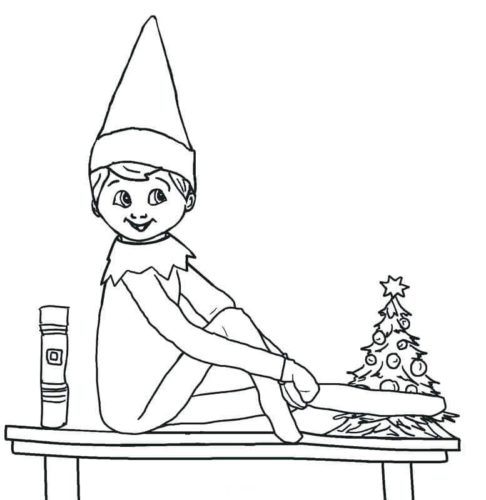 - 30 Free Printable Elf On The Shelf Coloring Pages