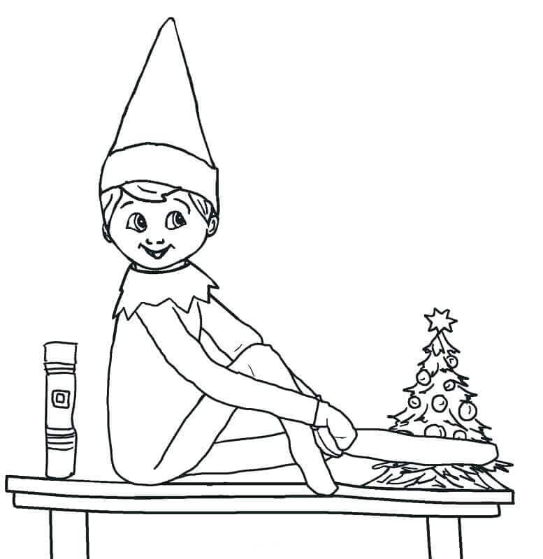 Elf On The Shelf Coloring Sheets Printables