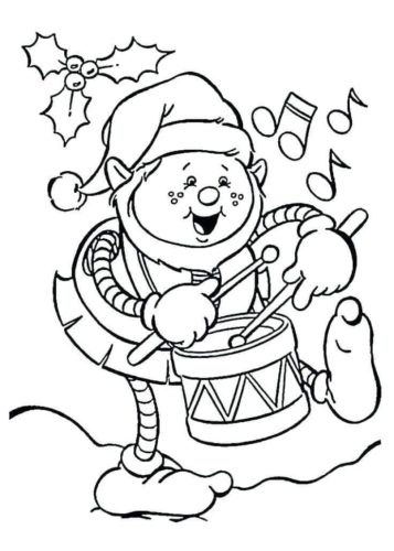 Elf On The Shelf Colouring Pages