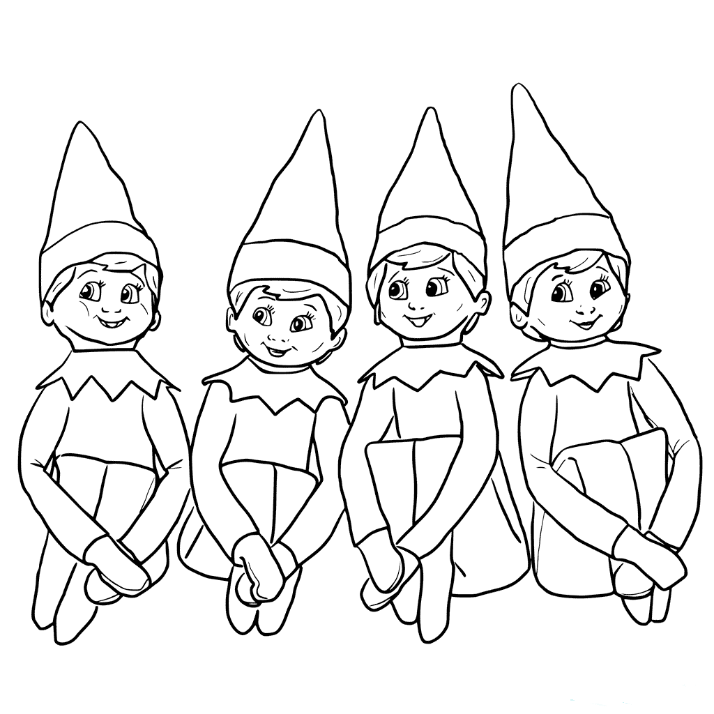 Elf On The Shelf Colouring Pictures For Kids