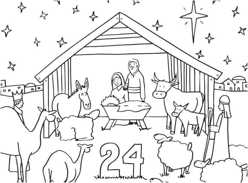 Free Advent Coloring Pages Printable